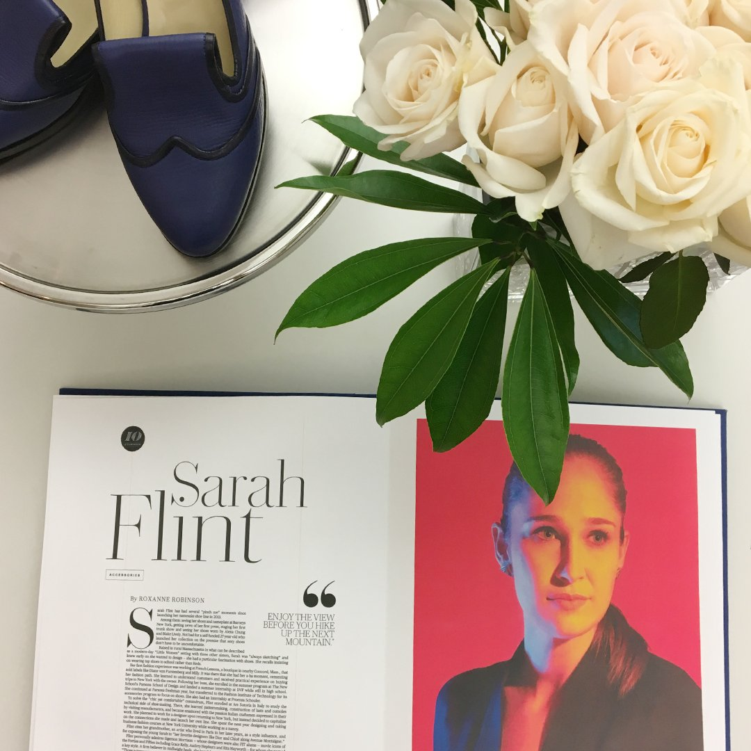 Congratulations to @SarahFlint_nyc on her induction to the @CFDA. Shop the collection now: https://t.co/WvyLqgA1QO https://t.co/REvmO4Wlhj