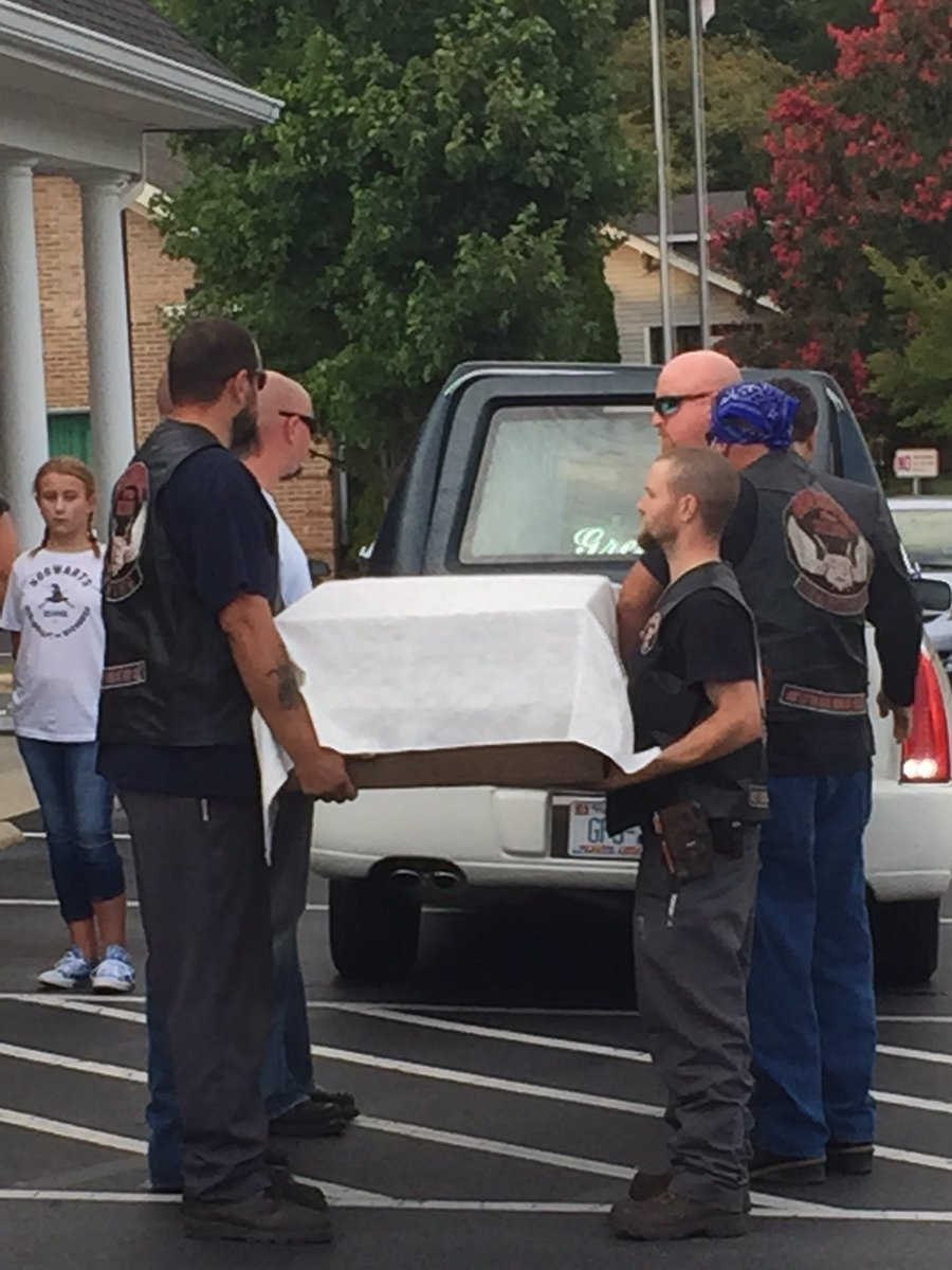 Heartbreaking visual, JordynDumont casket escorted home by Guardians of the Children chapter in Gastonia WCCB