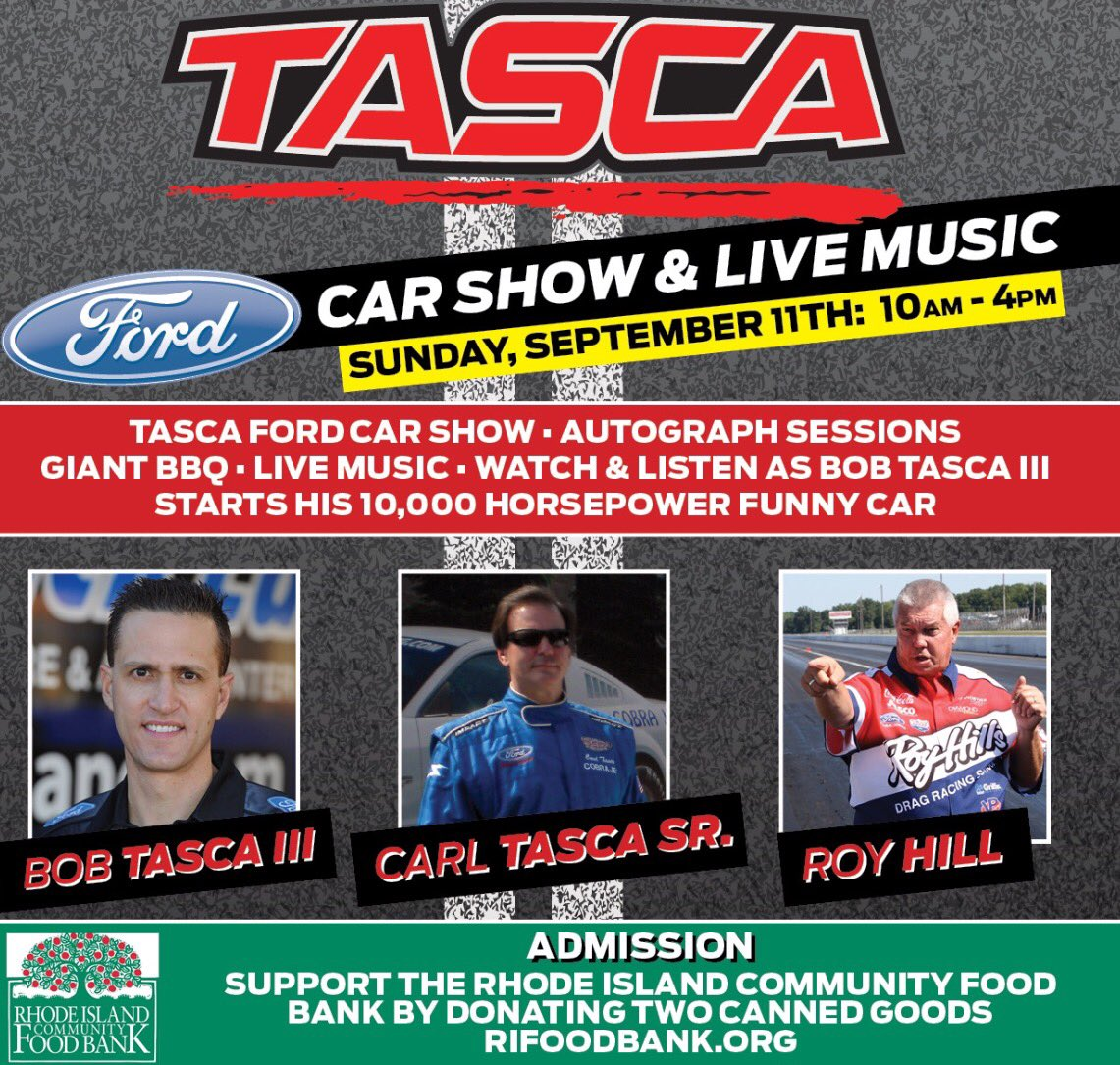 Bob Tasca III على تويتر Save The Date Saturday September Th - Tasca ford car show 2018