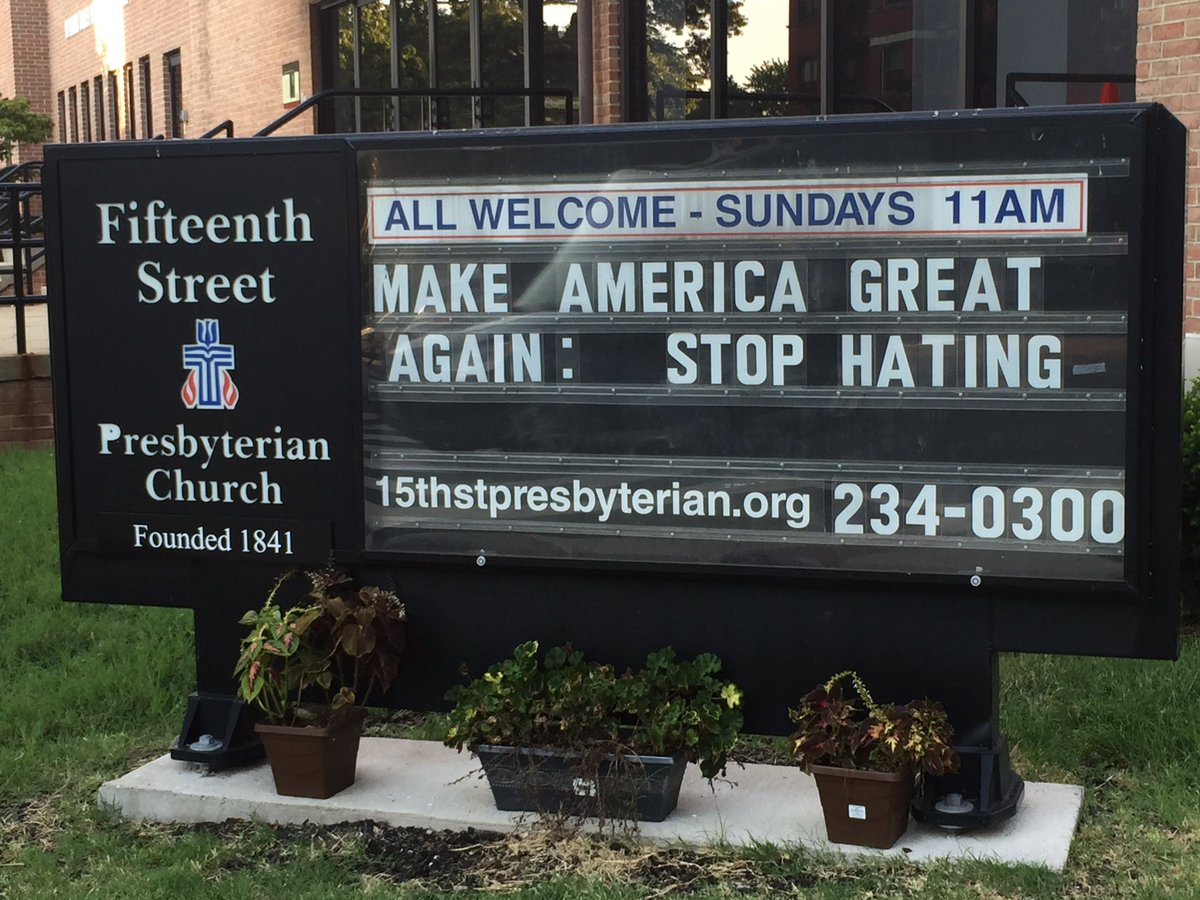 I love this sign at a church in my neighborhood!!!