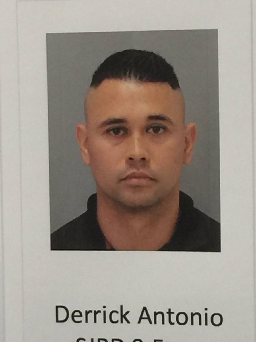 SJPD released pic of Derrick Antonio. The officer faces 6 felony counts for allegedly feeding info to gang members