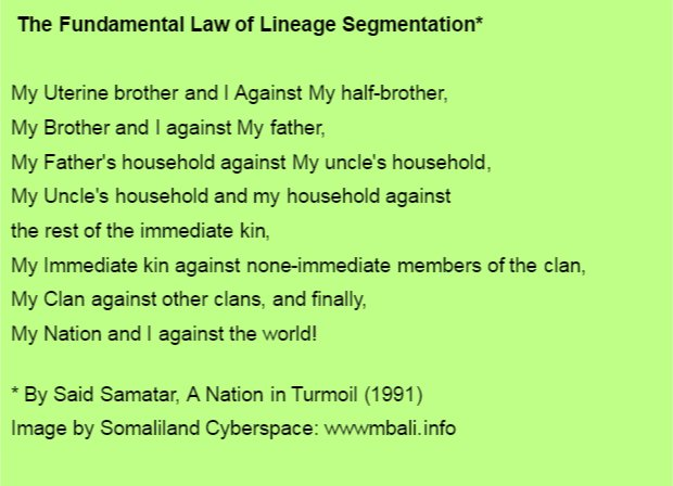 Law of segmentation