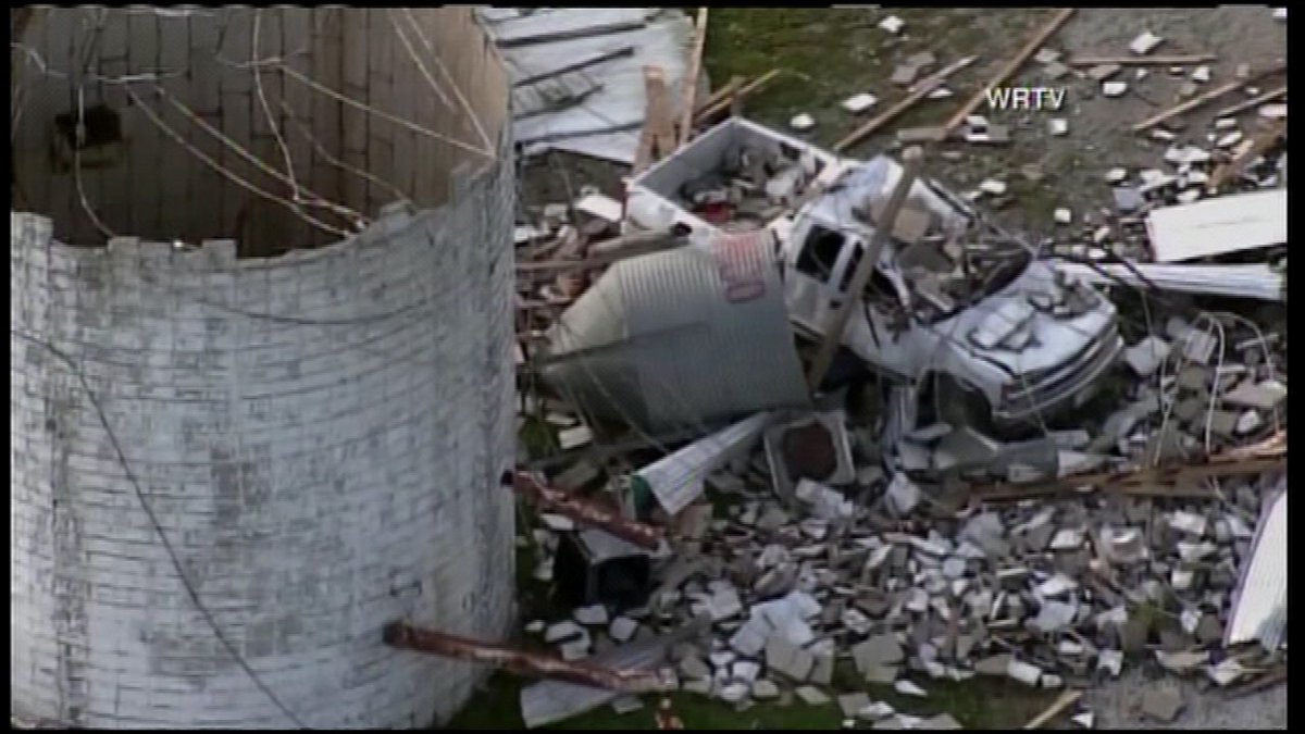 Police: About a dozen injured in central Indiana tornado outbreak, thousands without power...