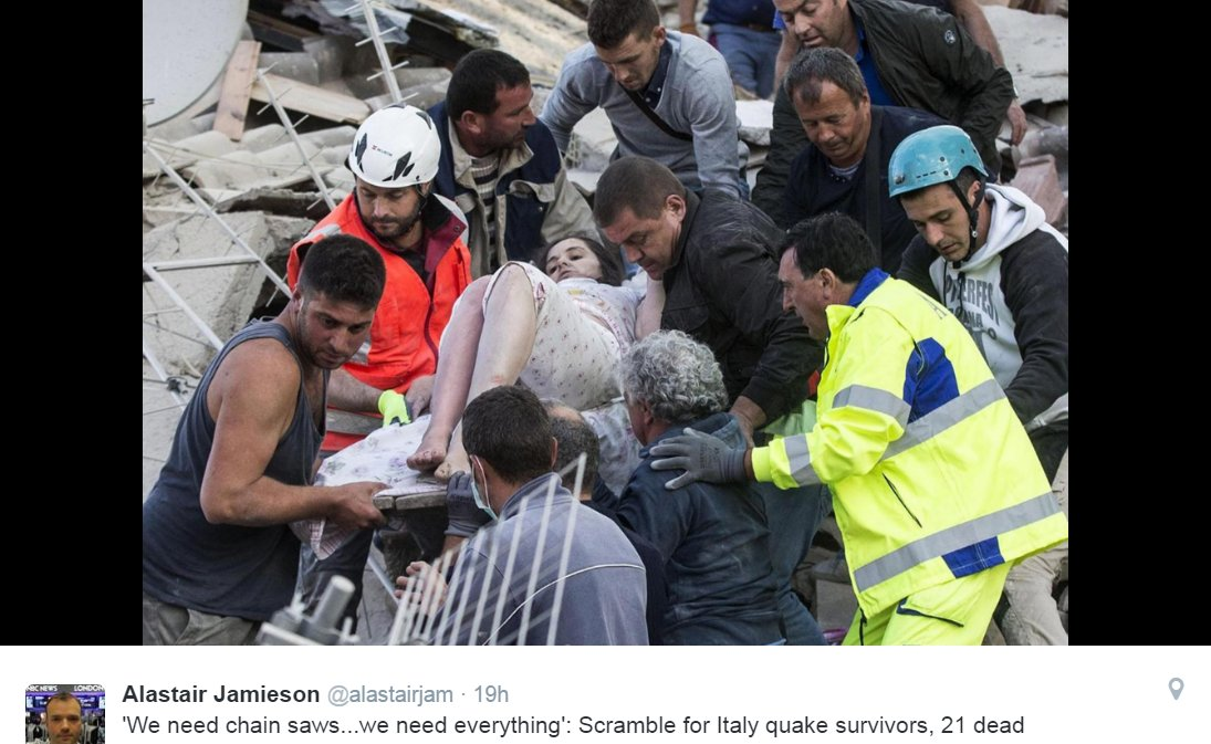 Devastating photos show aftermath of Italian earthquake, death toll rises to 159See