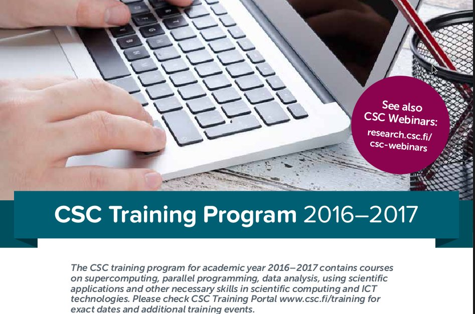Courses at CSC on Twitter: