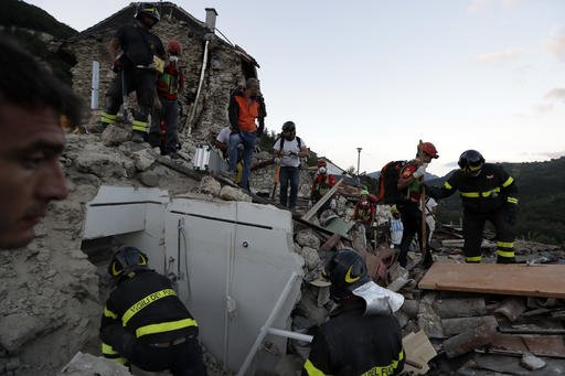 Death toll in Italy earthquake up to at least 247 people as rescuers race to free survivors
