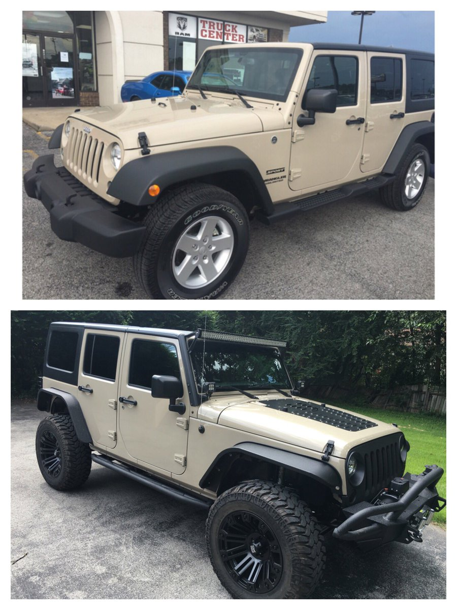 kindly myers on twitter before and after 2016 jeep wrangler unlimited sport gnarly radaf. Black Bedroom Furniture Sets. Home Design Ideas