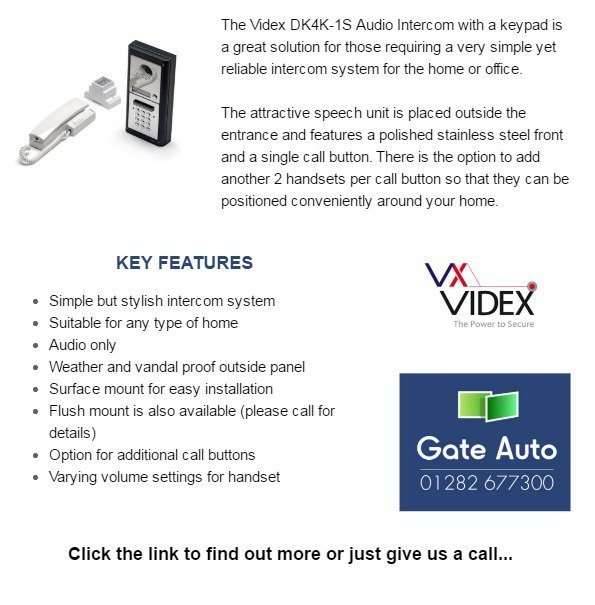 ProductSpotlight The Videx DK4K 1S Intercom With Keypad Is A Simple Yet Reliable System Buffly 2bFmswe Pictwitter XoGKGoSY8o