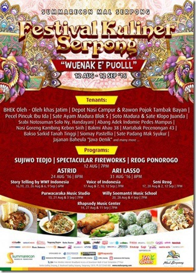 Festival Kuliner Serpong Hadirkan Masakan Khas Jawa Timur