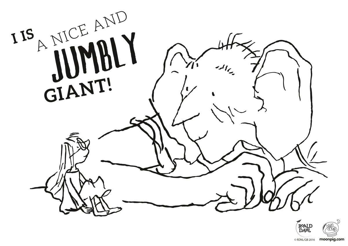 the bfg by roald dahl coloring pages sketch coloring page