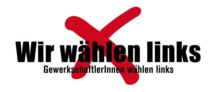 Bildergebnis für fotos vom logo gewerkschafter wählen links