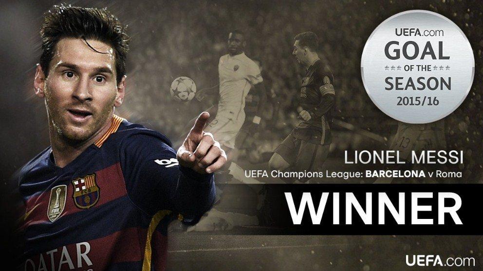 رسميًا : هدف ميسي الرائع من 27 تمريرة في مرمي روما الذي اختير الأفضل في بطولة دوري أبطال اوروبا