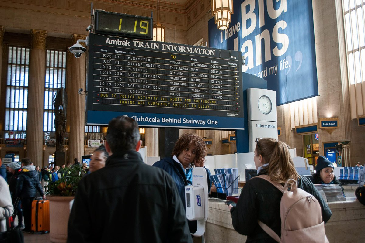 Amtrak is replacing its flipping departure board at 30th Street Station