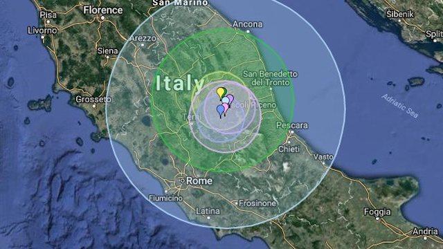 Lo spostamento della faglia dopo il Terremoto in centro Italia, ce lo spiega INGV Terremoti.