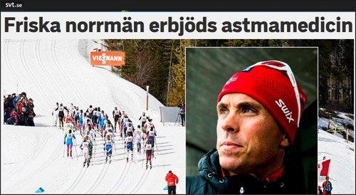 Friska norrman erbjods astmamedicin