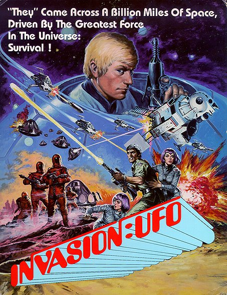 Terrific promo art for Gerry Anderson's #scifi delight INVASION: UFO. Now available on Blu-ray from @networktweets.