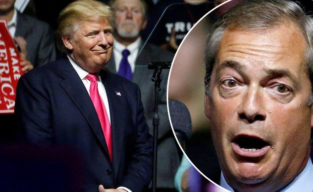 Nigel Farage pops up at Donald Trump rally, blasts Clinton and Obama
