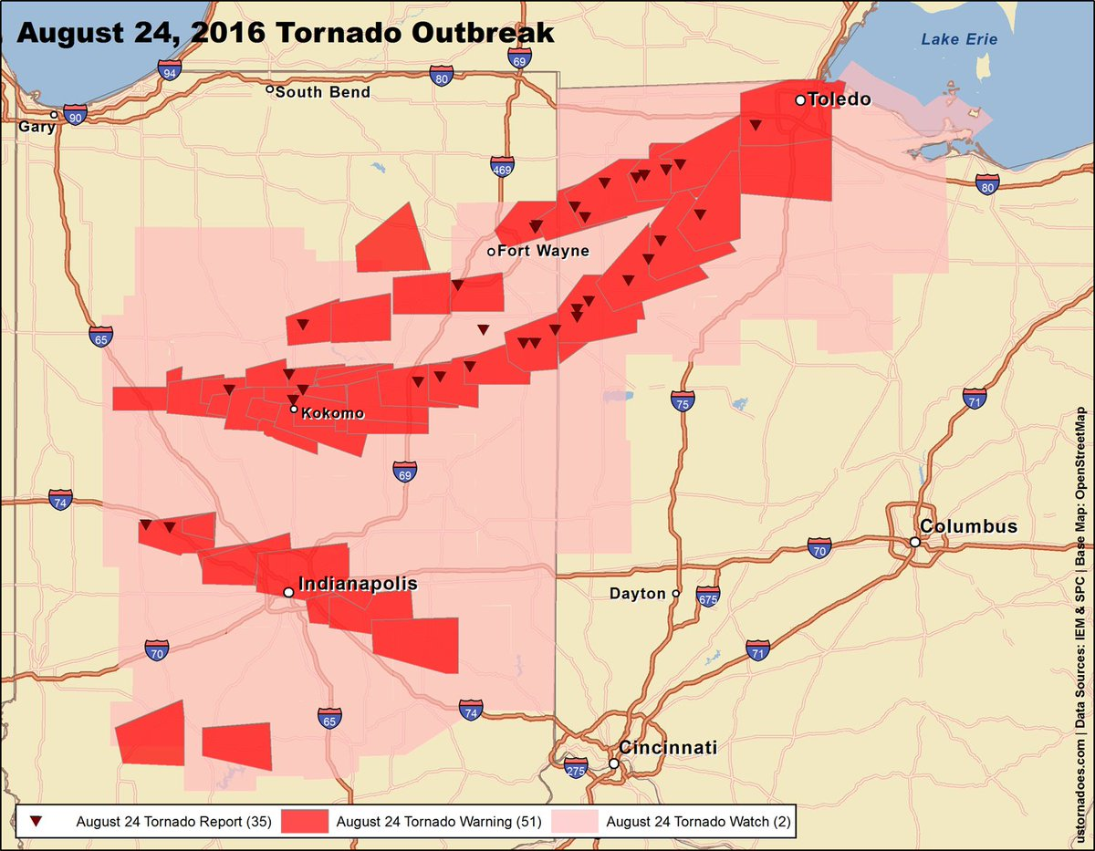 Us Tornadoes On Twitter Prelim Map Of The Aug 24 Tornado - Us-tornado-map