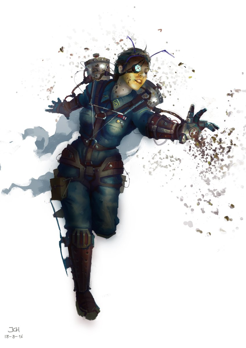 Queen B #art #scifi #artist #fantasy #steampunk