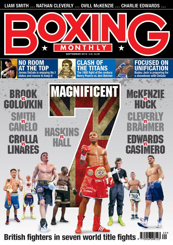 In this month's BM we preview seven big fights featuring Brits. @KOwriting looks at judging & there's much more. https://t.co/M3HmO7KqEB