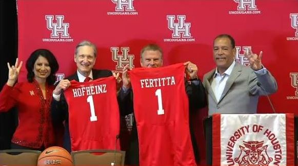 Thanks to @TilmanJFertitta for generous $20 million gift to @UHouston @UHCougars to remodel Hofheinz Pavilion! https://t.co/EHzAfjYKmw