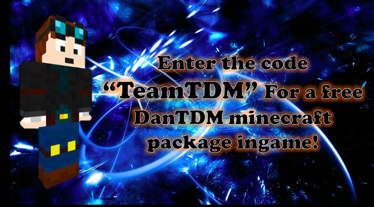 Robloxs Mod On Twitter Enter Code Teamtdm For A Free Dantdm