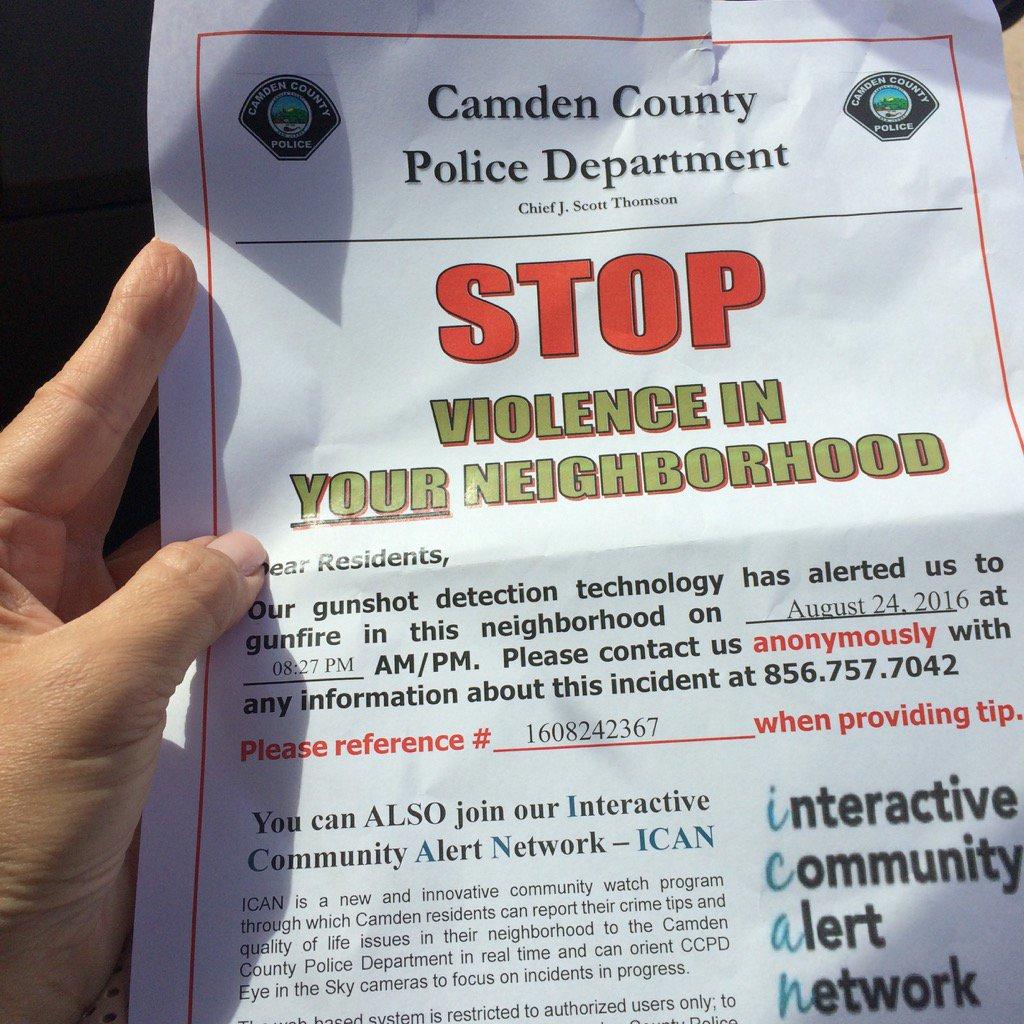 Police to public in Camden: