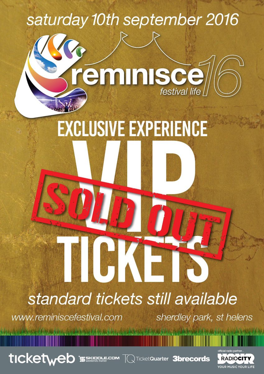 As predicted @Reminisce2016  Standard tickets still on sale but selling fast https://t.co/DCbcTYUh0x https://t.co/QhxIajjnG1