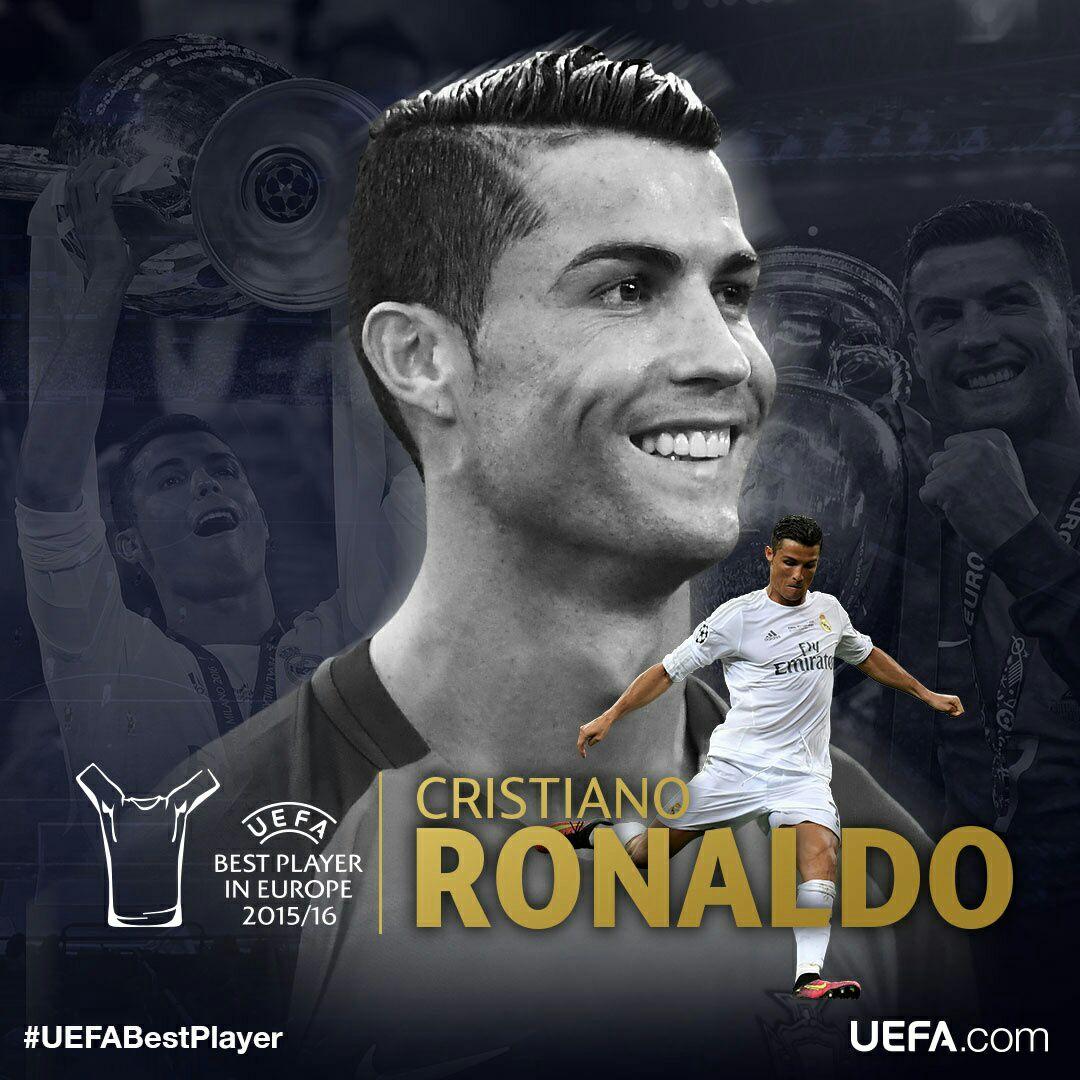 Cristiano Ronaldo giành danh hiệu cầu thủ xuất sắc nhất Châu Âu 2015/2016