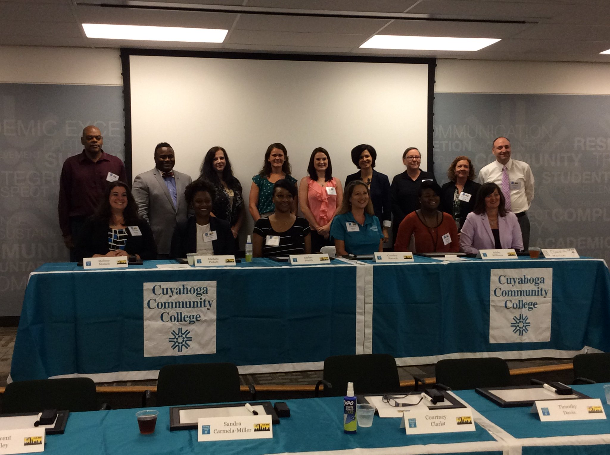 @TriCedu staff ready to compete to be on their team for our #CLEBEE!! https://t.co/xszGQfmjf5