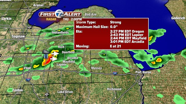 Tracking a strong storm moving into Lapeer County: backchannel