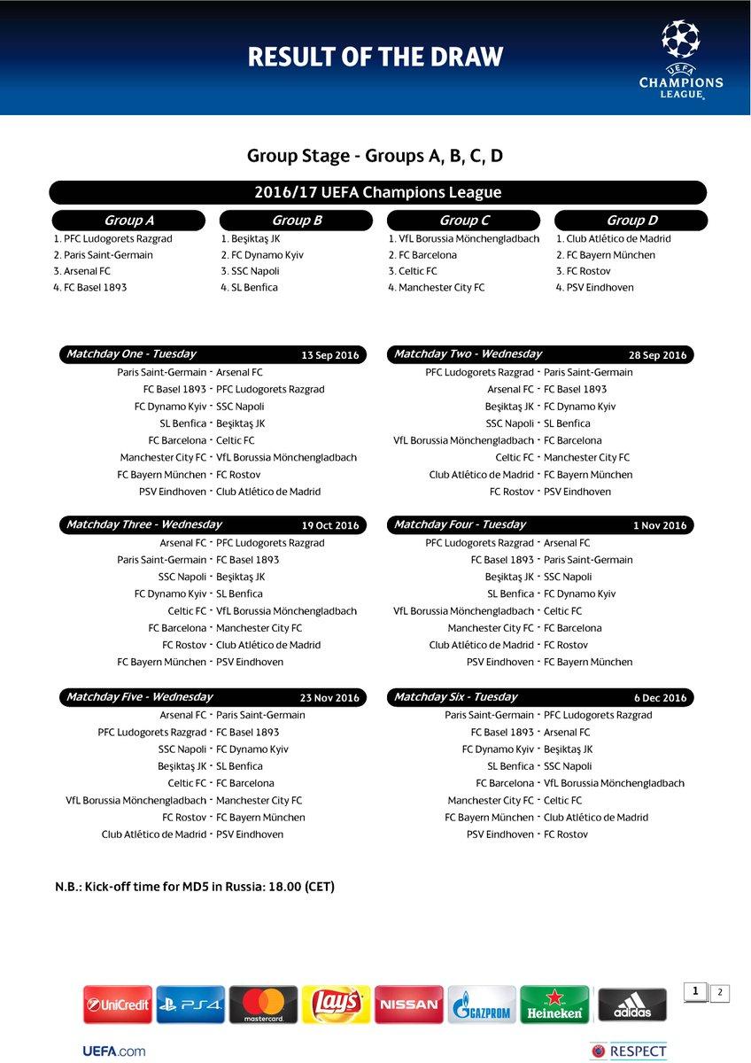 TICKET UEFA CL 2016//17 Mönchengladbach FC Barcelona
