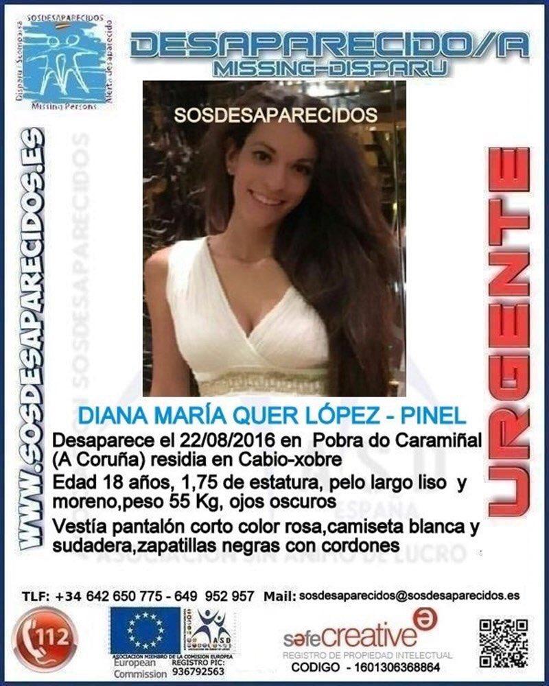 #DianaQuer continúa desaparecida. Su familia agradece la difusión y la colaboración ciudadana. ¿Ayudas? https://t.co/DBeJ7jHZ7N