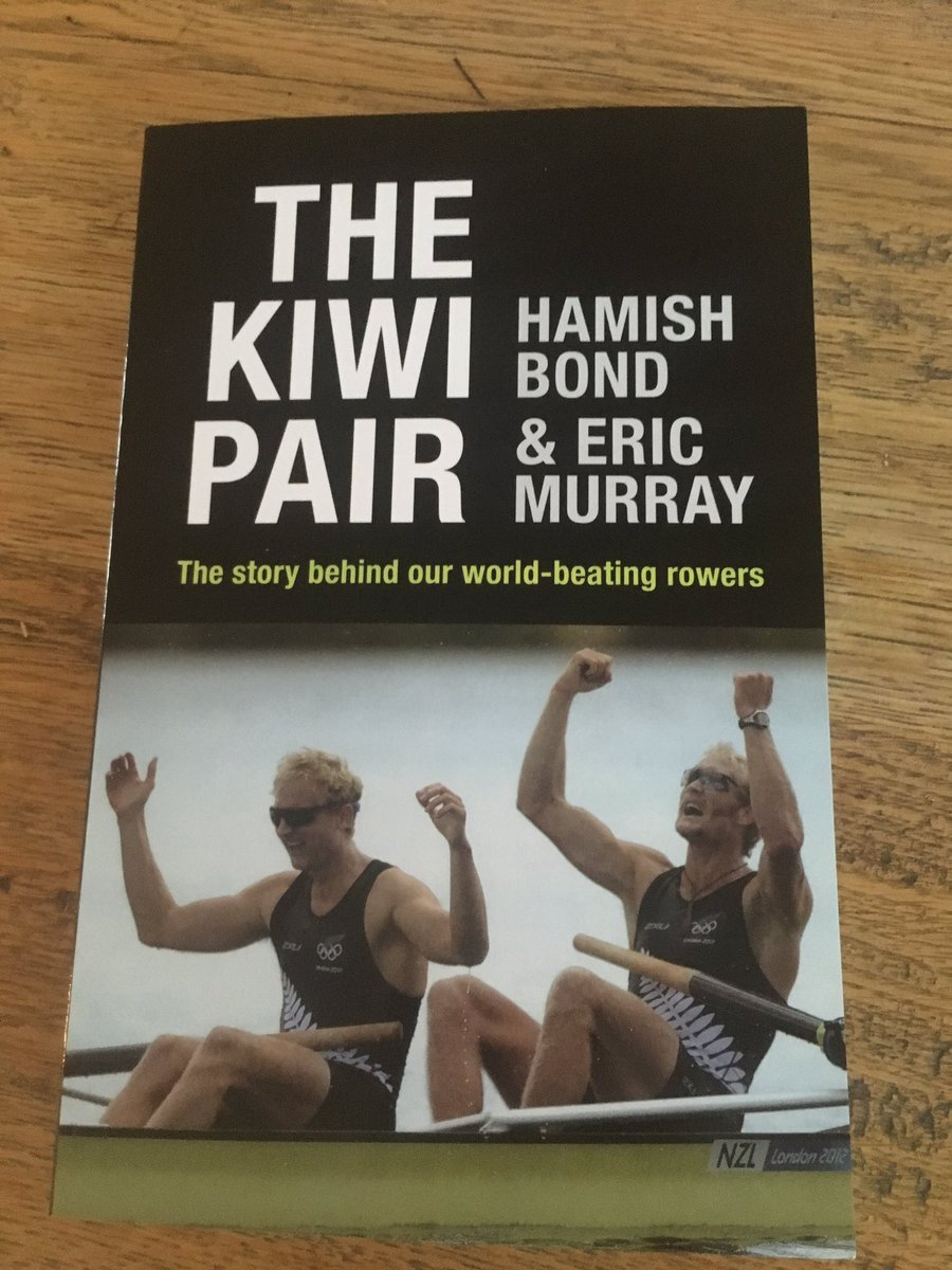 Book in store today! RT to win a copy signed by double Olympic champs Eric and Hamish. @kiwipair   #FathersDay https://t.co/LWFo70SQNX