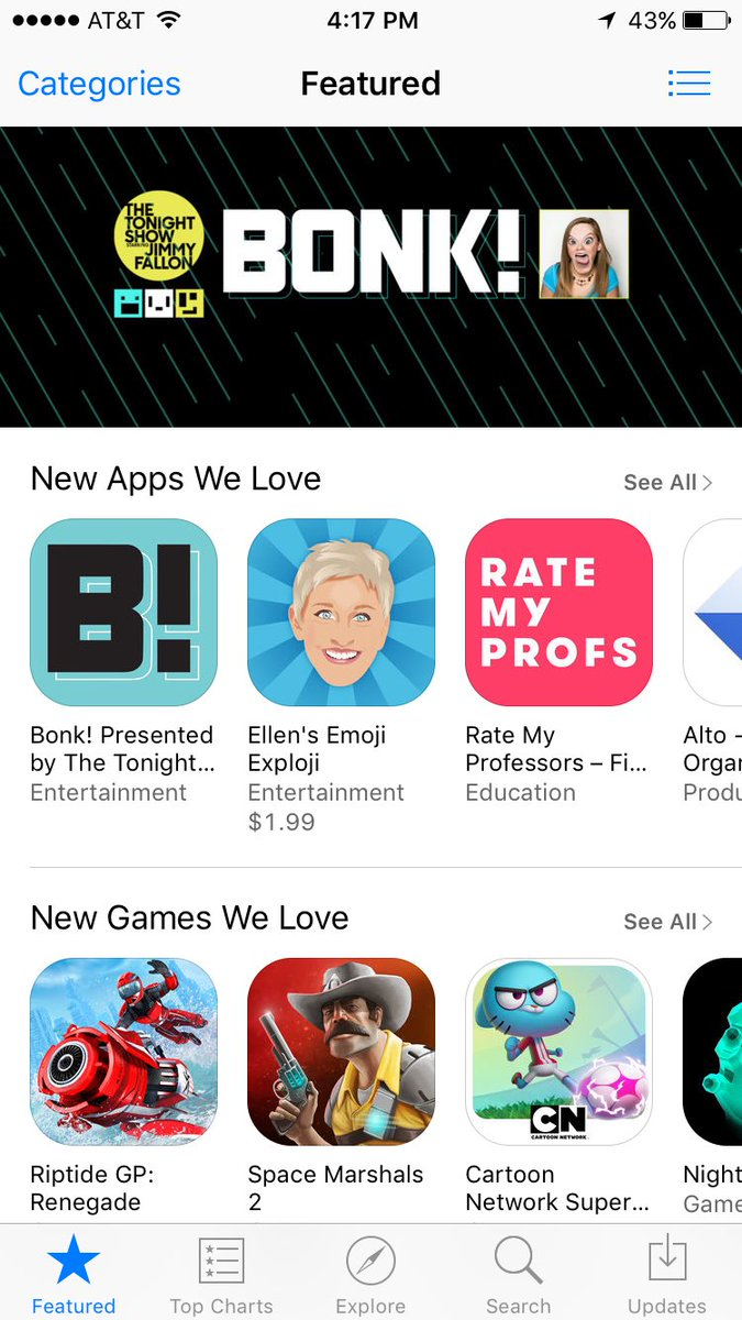 Gavin Purcell On Twitter So Excited To See Bonk Featured The AppStore Home Page Tco Nk9izc4GZ3