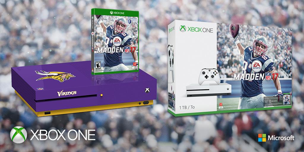 RT for your chance to win a #Vikings Xbox One S Madden 17 bundle. #XboxSweepstakes   Rules: https://t.co/AT0wLGjbwu
