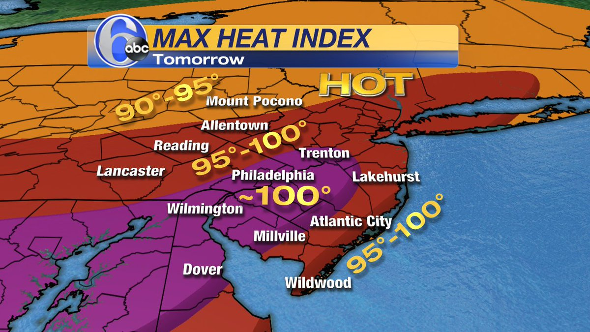 HERE WE GO AGAIN!Peak heat indices on Friday will range from 95 to 100 across the area.
