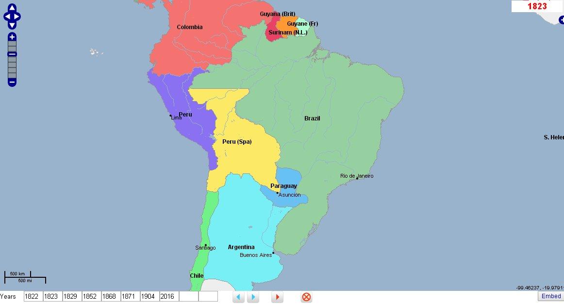 GeaCron On Twitter World History Atlas Timelines Federative - Federative republic of brazil map