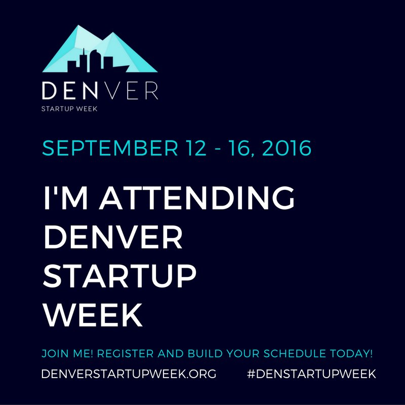 Shout it from the rooftops! Share this image, tag DENStartupWeek for chance to win one of our brand new t-shirts!