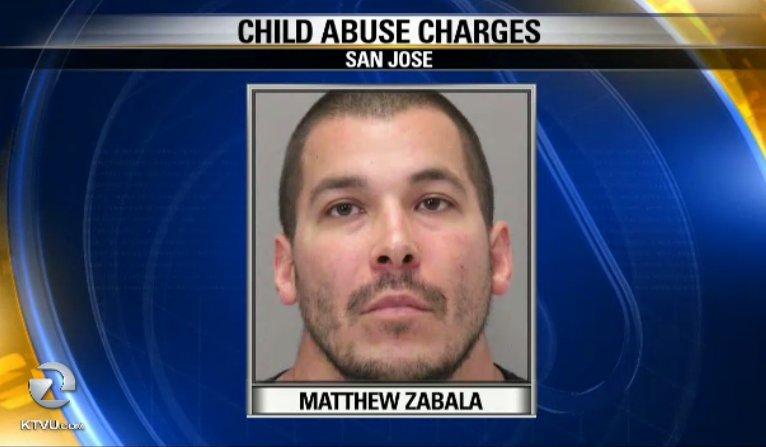 SanJose man arrested on felony child abuse after 6 week old hospitalized with 14 broken bones & cardiac arrest.