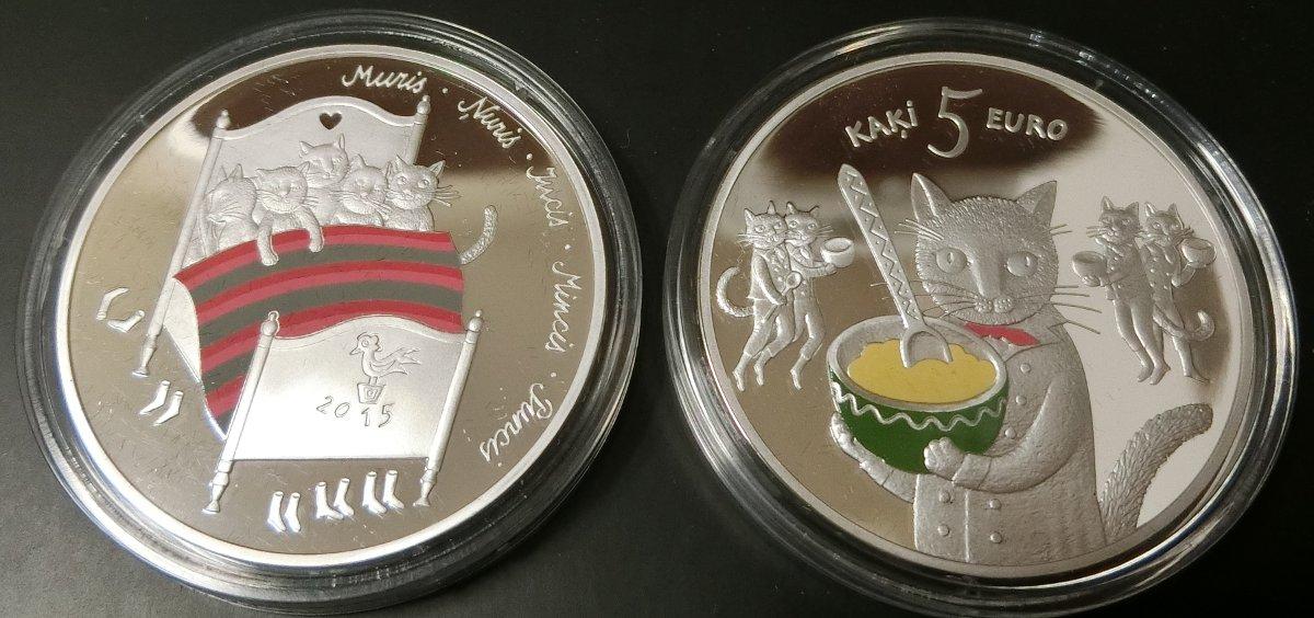 [イラストネタ]ラトビアの5ユーロ銀貨ほしい・・・[2016年8月26日]