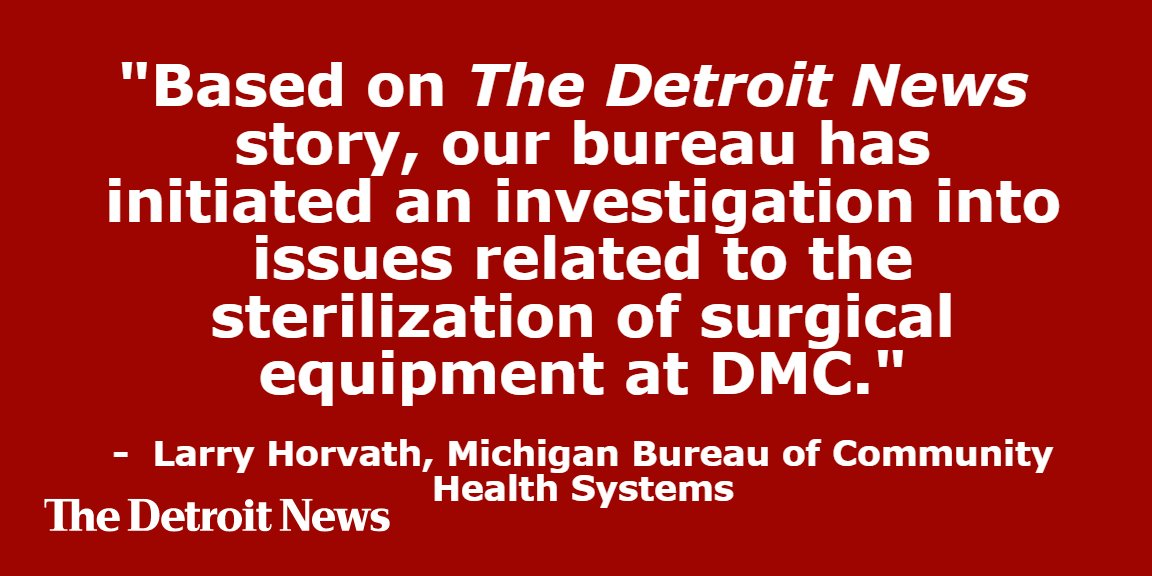 Although DMC officials didn't respond to today's articles by @detroitnews, the state did.