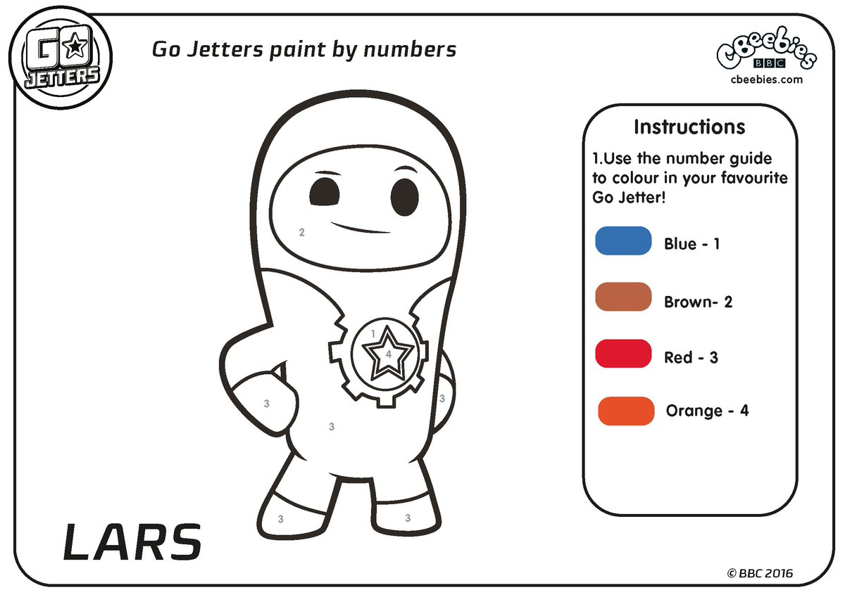 go jetters on twitter can your child fill in this colour by numbers lars geographic - Fill The Colour In Pictures