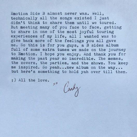 "Carly Rae Jepsen >> EP ""E•MO•TION: Side B"" CqwNFLPUMAAdsmP"