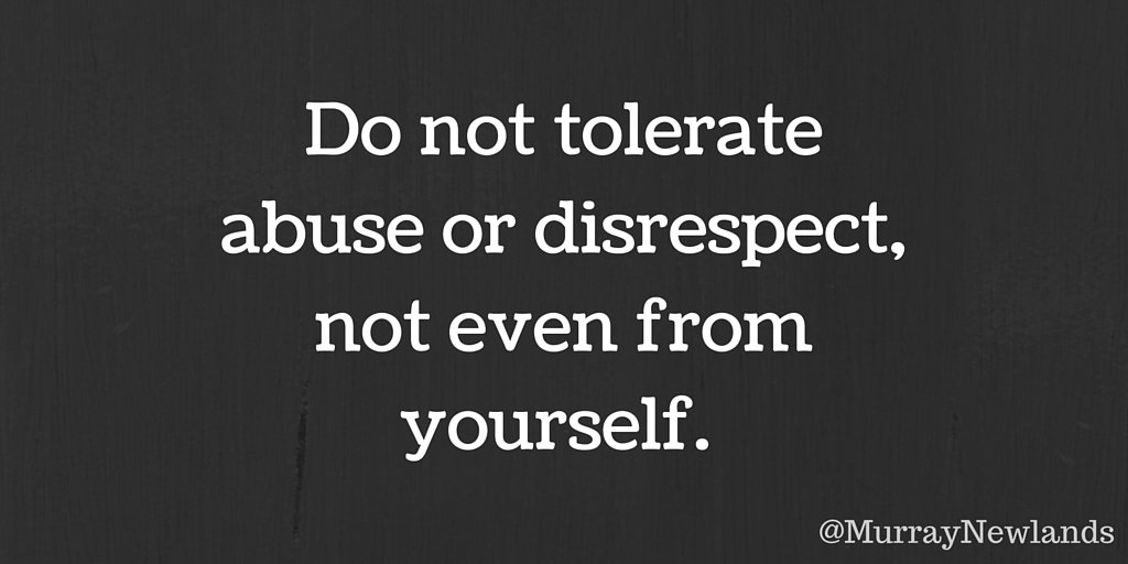 disrespect is not tolerated in the