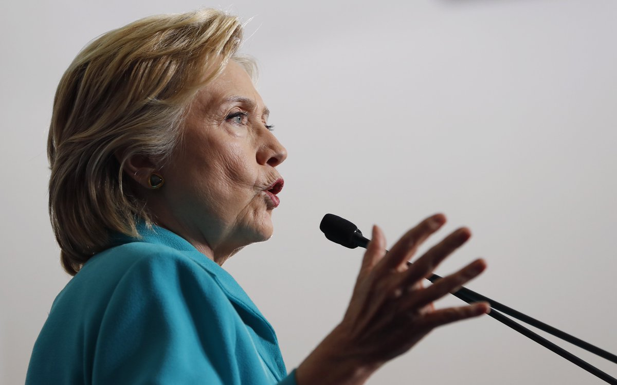Clinton says Trump will 'make America hate again'