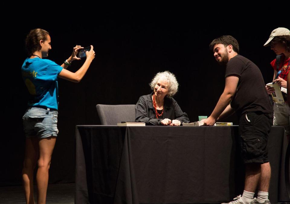 Celebrated author Margaret Atwood was at Brandeis this week to speak to incoming freshmen