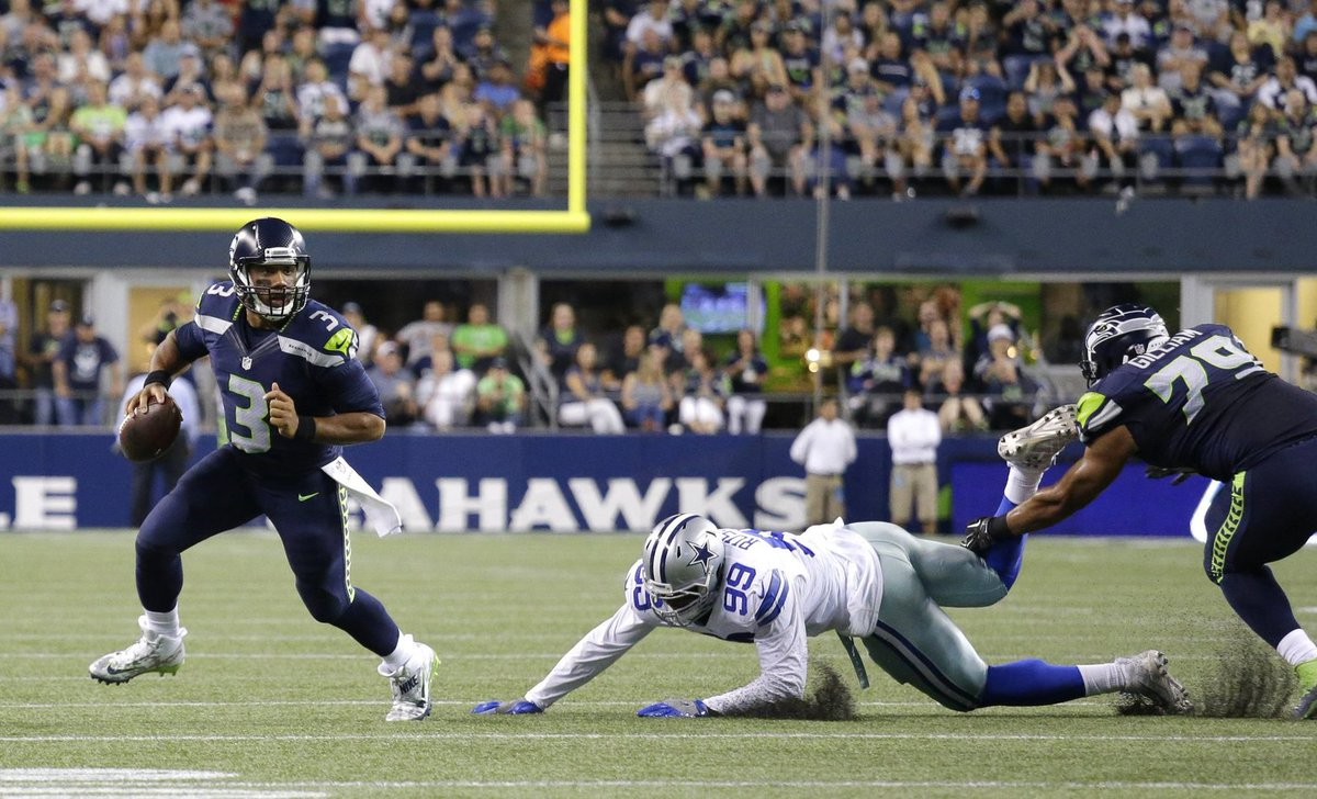 Russell Wilson pulls off incredible touchdown pass against Cowboys. SEAvsDAL