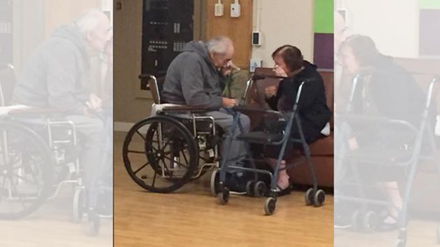 captures elderly couple's heartbreaking separation.