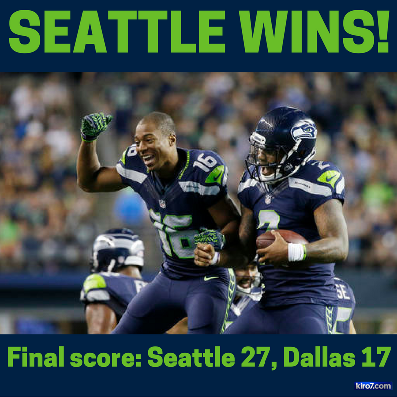 FINAL SCORE: Cowboys: 17Seahawks: 27Check out game photos here >> DALvsSEA